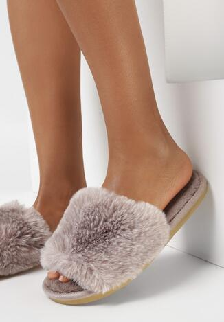 Papuci de casă Kaki