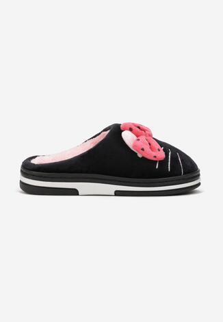 Papuci de casă Negru cu roz