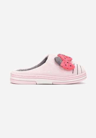 Papuci de casă Roz cu gri