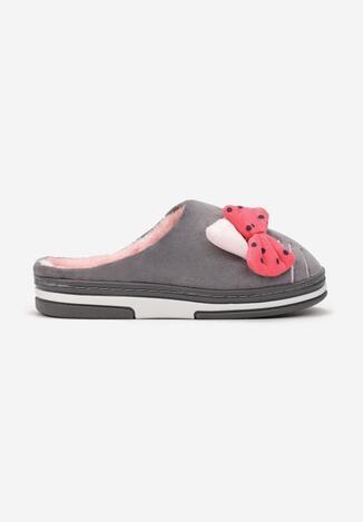 Papuci de casă Gri cu roz