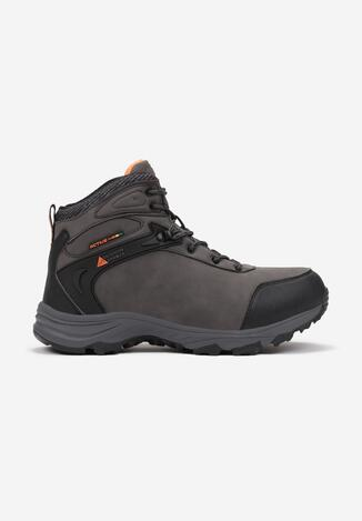 Pantofi trekking Gri cu portocaliu