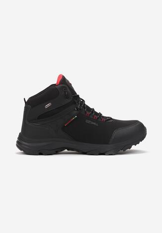 Pantofi trekking Negru cu roșu