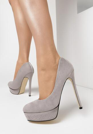 Pantofi stiletto Gri