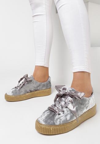 Pantofi cu talpa groasă Gri