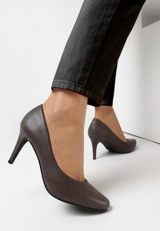 Pantofi stiletto Gri închis