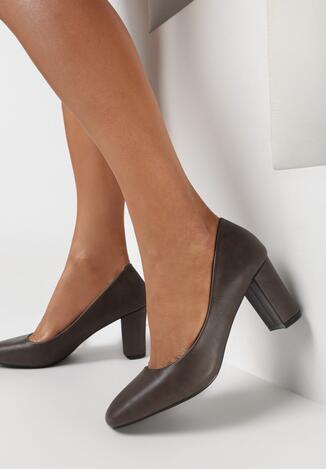 Pantofi cu toc Gri