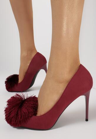Pantofi stiletto Bordo