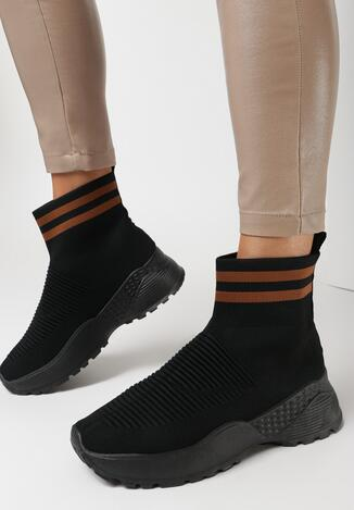 Sneakers Negru cu maro
