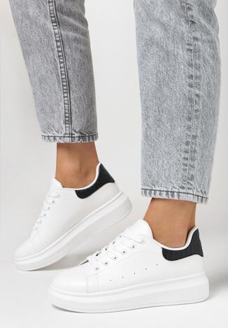 Sneakers Alb cu negru