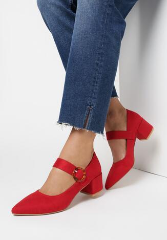 Pantofi cu toc Roșii