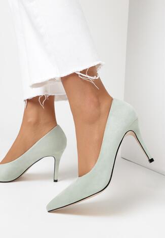 Pantofi stiletto Verde mentă