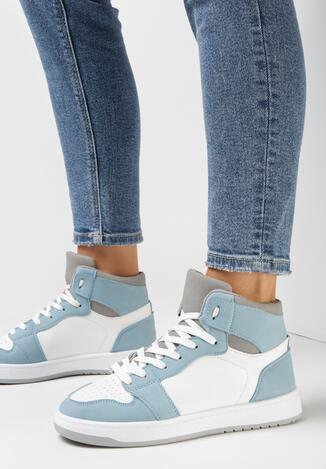 Sneakers Alb cu albastru