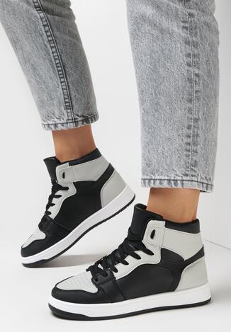 Sneakers Negru cu gri