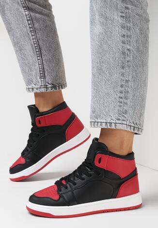 Sneakers Negru cu roșu