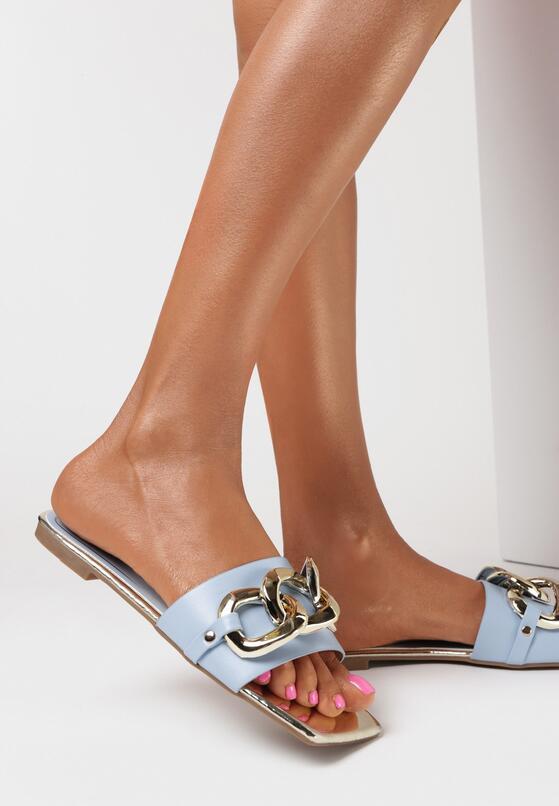 Papuci Albastru deschis