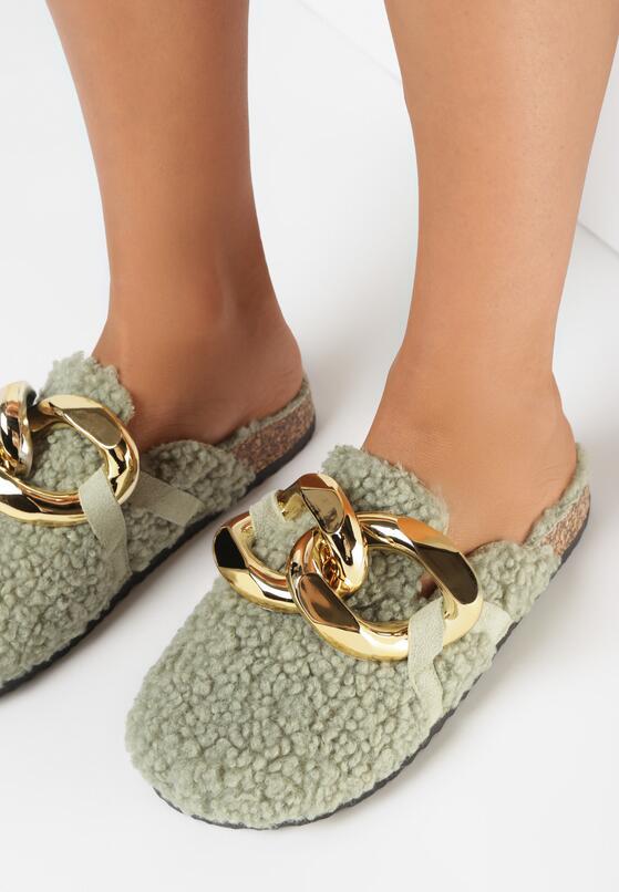 Papuci de casă Verzi