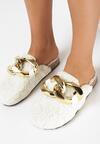 Papuci de casă Albi