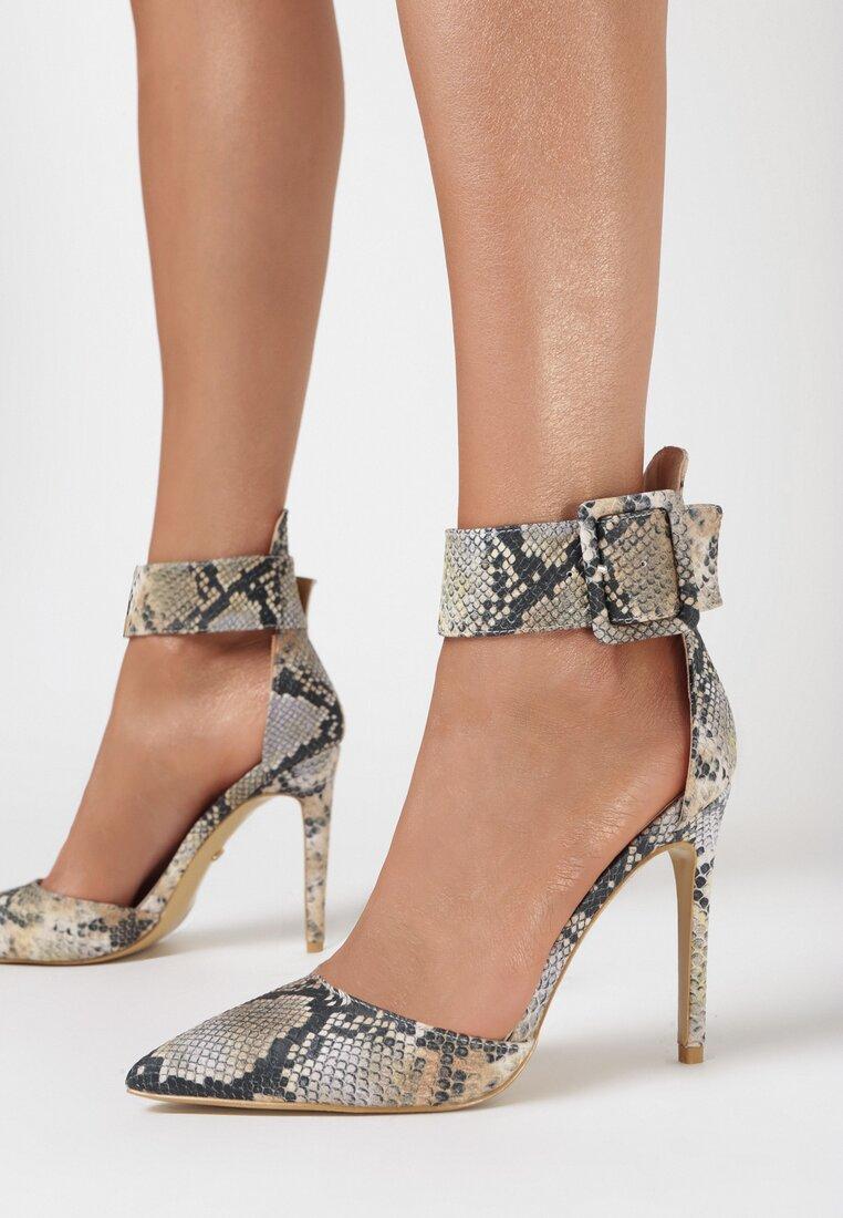 Sandale Print piele de șarpe