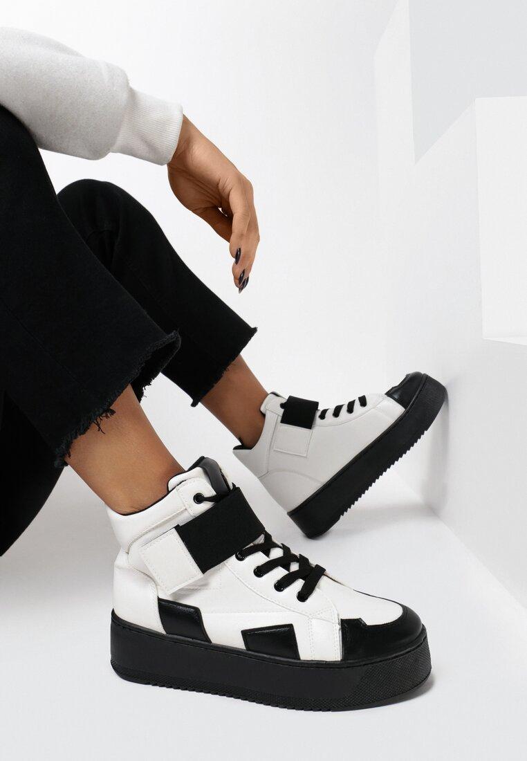 Sneakers Negru cu alb