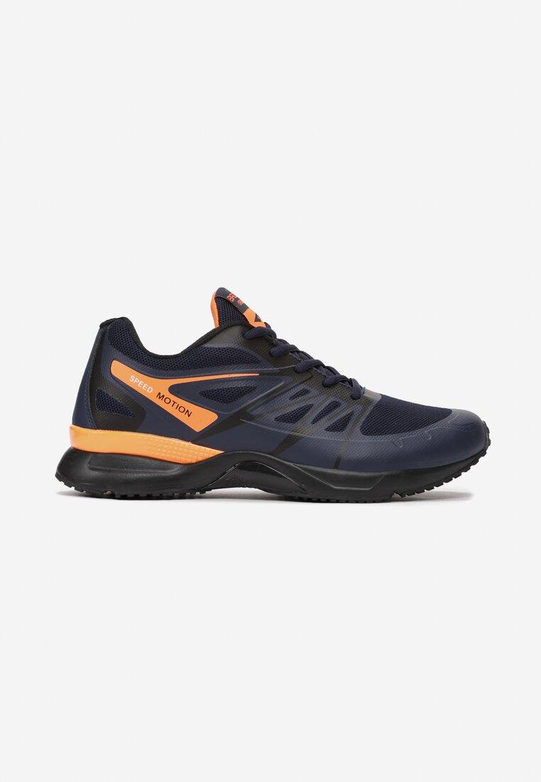 Pantofi sport Bleumarin cu portocaliu