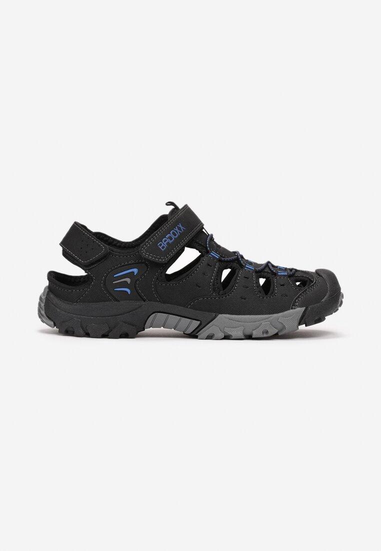 Sandale Negre cu albastru