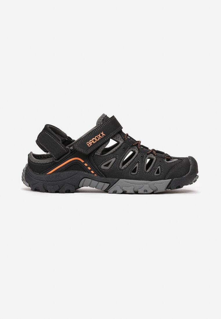 Sandale Negru cu portocaliu