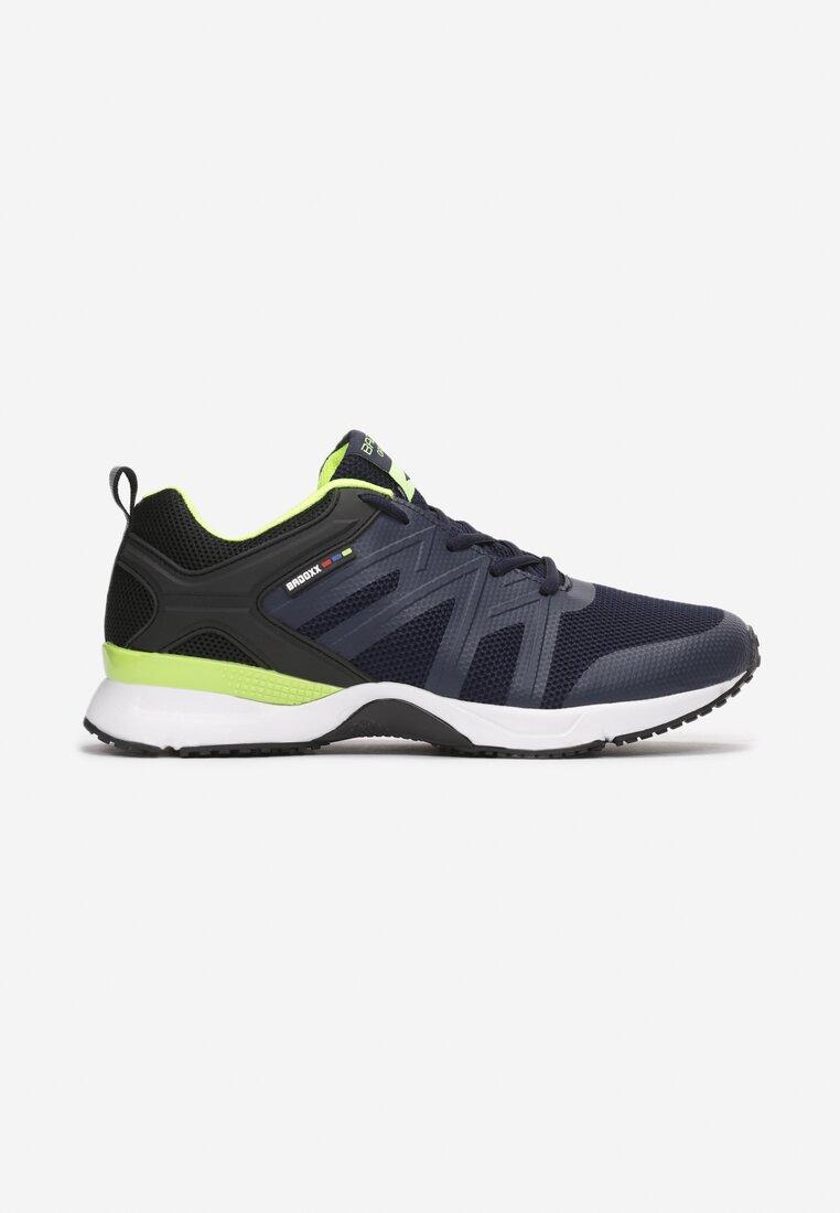 Pantofi sport Bleumarin cu verde