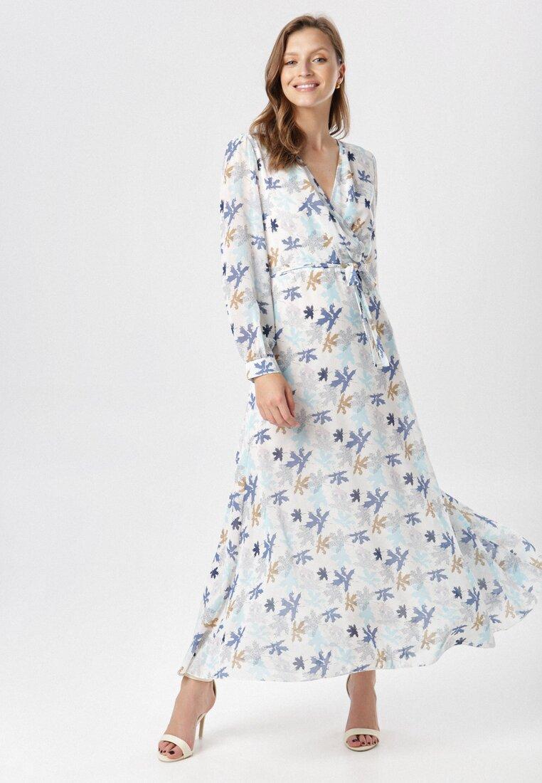 Rochie Albă cu albastru