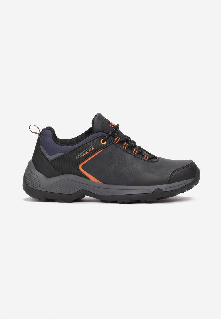 Pantofi trekking Bleumarin cu portocaliu