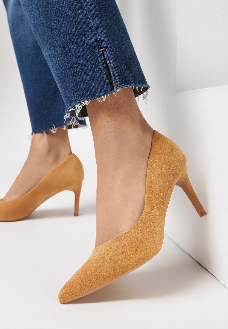 Pantofi stiletto Camel