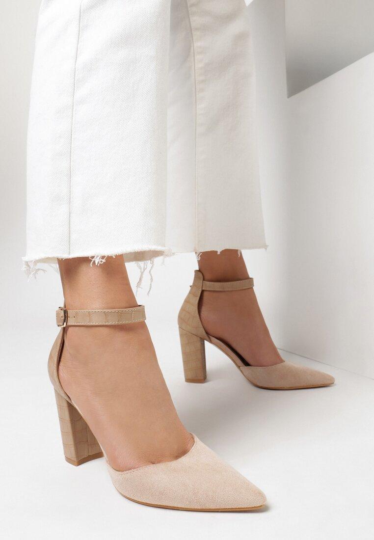 Pantofi cu toc Roz