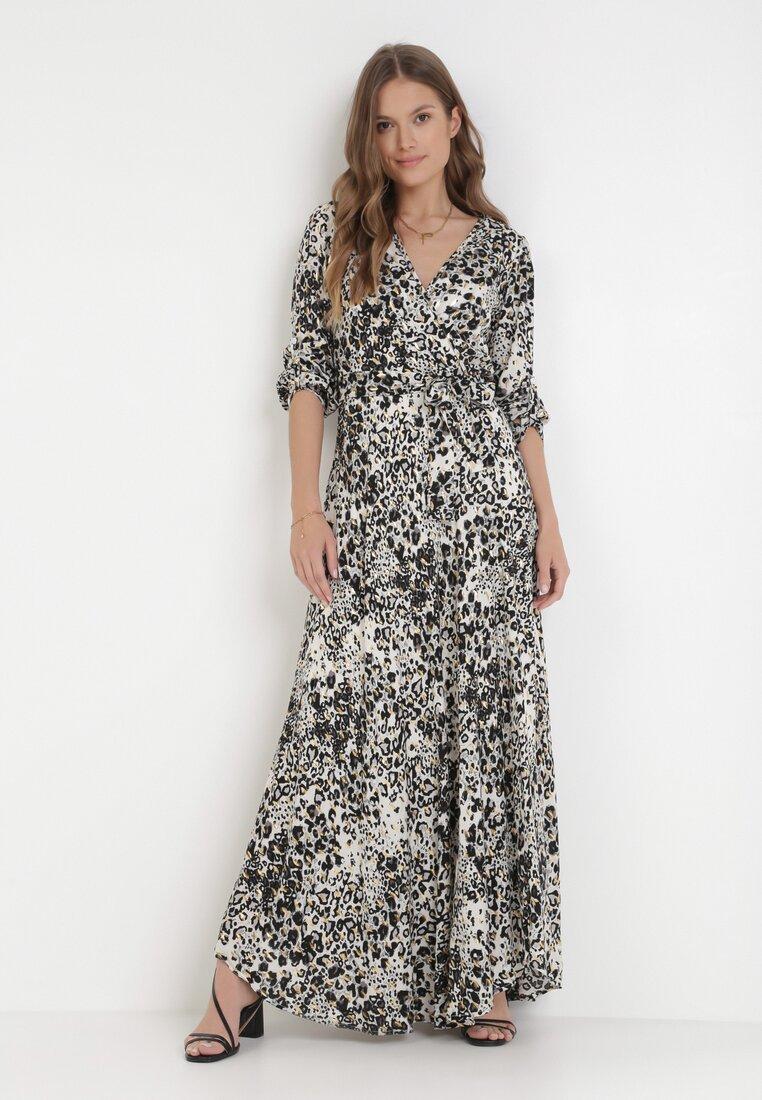 Rochie Albă cu gri