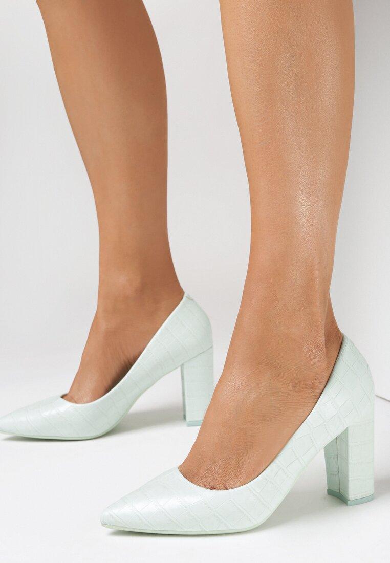 Pantofi cu toc Verzi