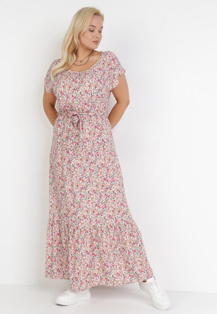 Rochie Albă cu roz