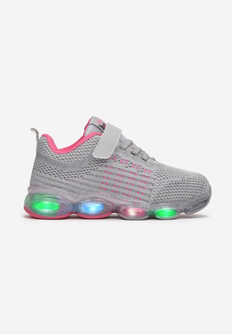 Pantofi sport Gri cu fucsia