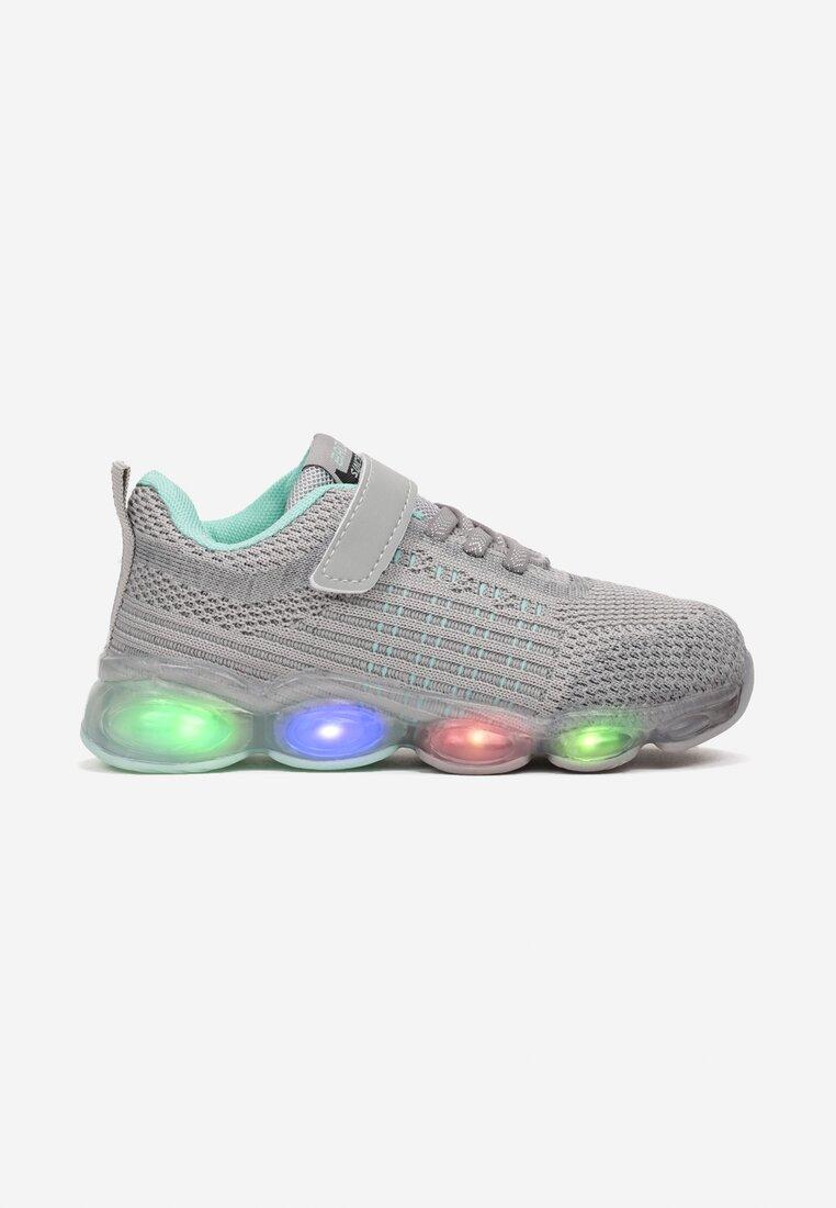 Pantofi sport Gri cu verde mentă