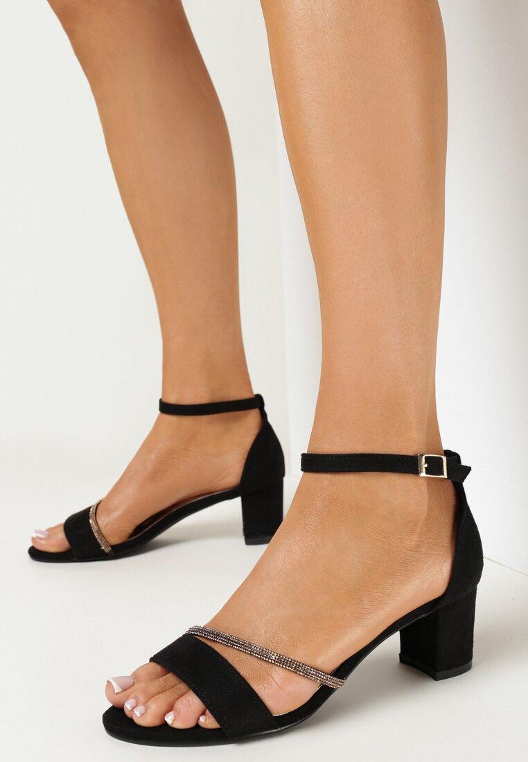Sandale Negru cu argintiu