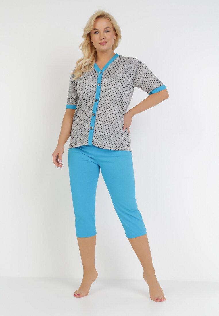 Compleu pijama Gri cu albastru