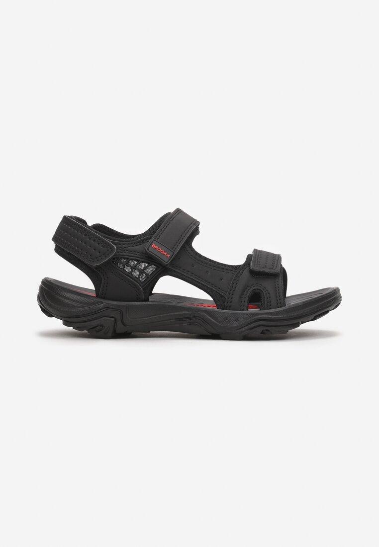 Sandale Negru cu roșu