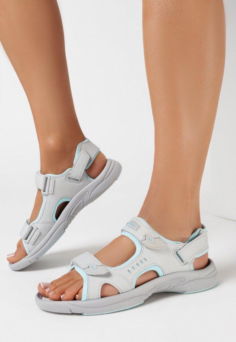 Sandale Gri cu albastru