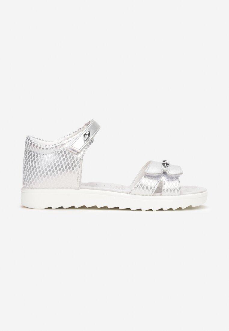 Sandale din piele Argintii
