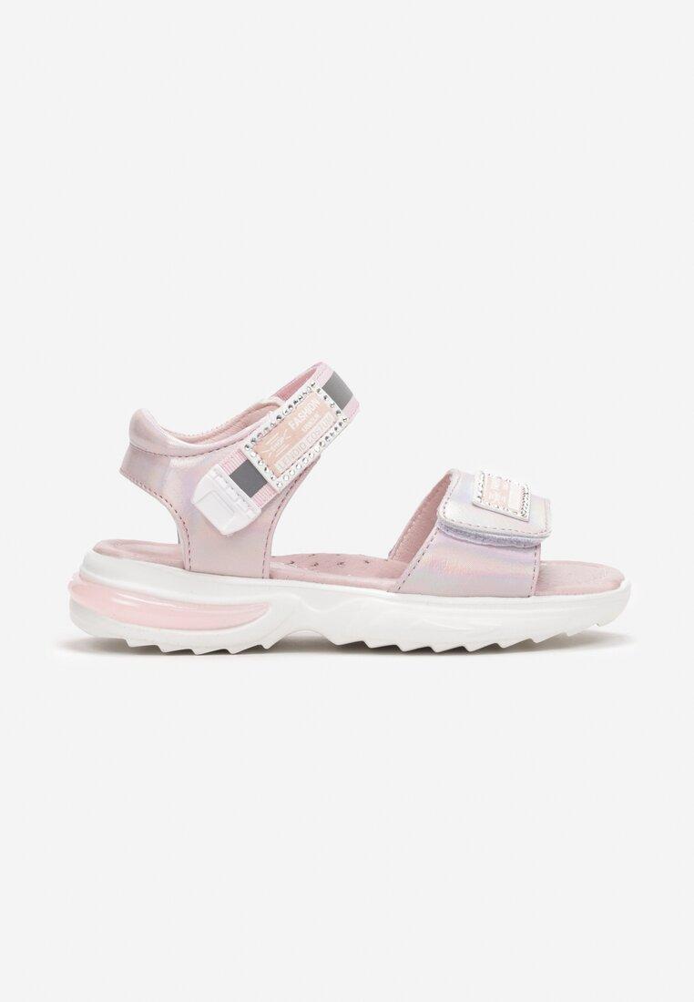 Sandale din piele Roz
