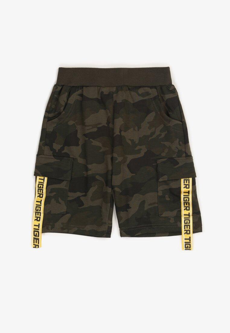 Pantaloni scurți camo Verde închis