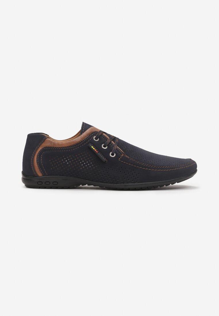 Pantofi casual Albastru cu maro