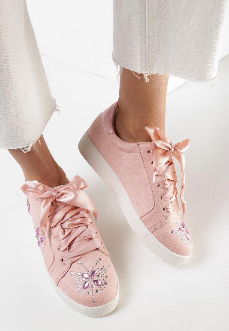 Pantofi cu talpa groasă Roz