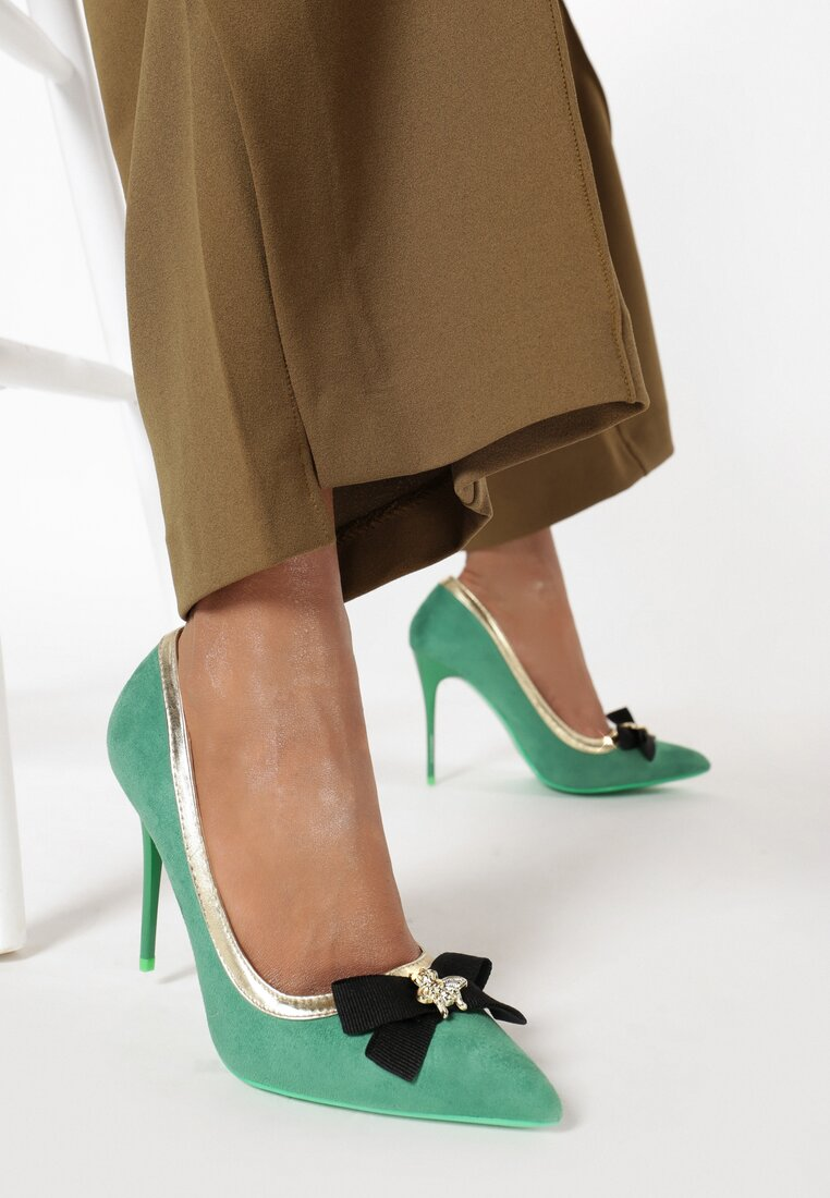 Pantofi stiletto Verzi