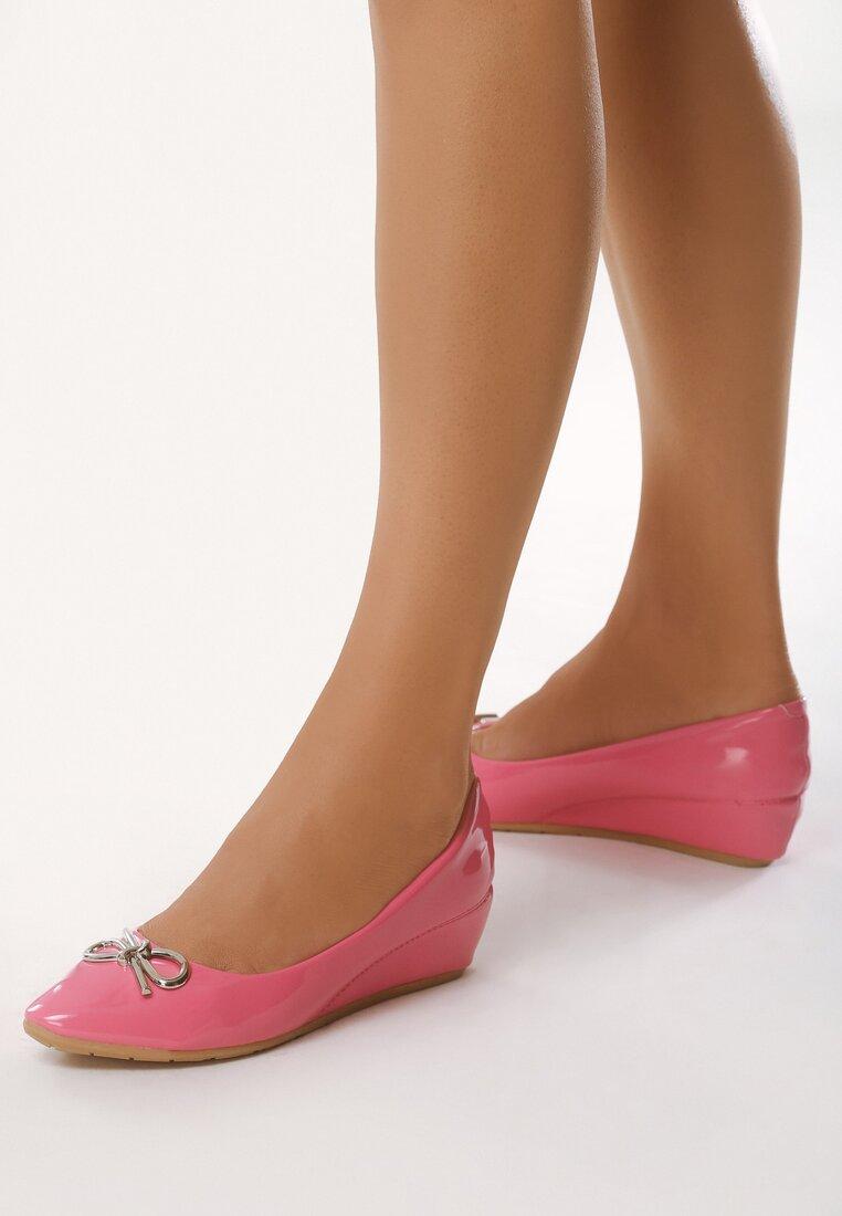Pantofi cu toc Fucsia