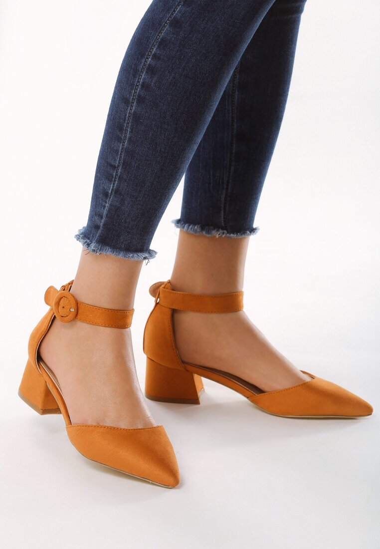 Pantofi cu toc Galbeni
