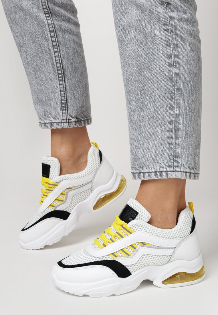 Sneakers Alb cu galben