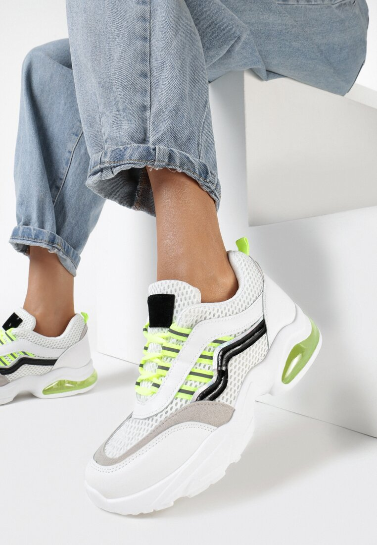 Sneakers Alb cu verde
